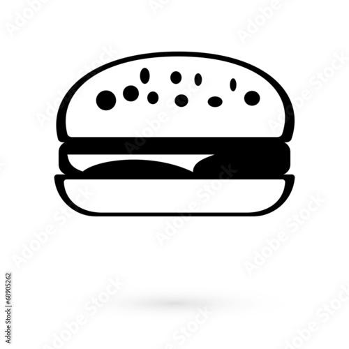 Black Icon sandwich. Raster - 68905262