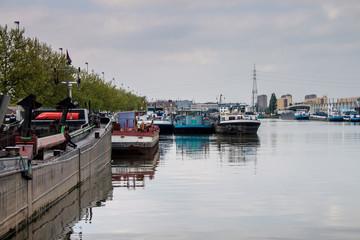 Harbor in Antwerp, Belgium.