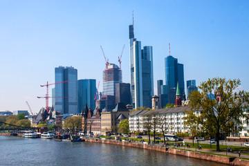 City skyline in Frankfurt