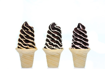 Soft serve ice cream isolated on white background