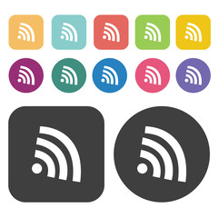 wireless sign icons set.  Illustration eps10