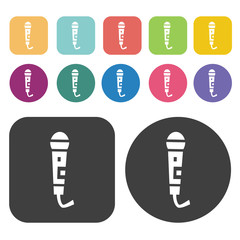 microphone icons set.  Illustration eps10