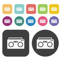 Radio icons set.  Illustration eps10