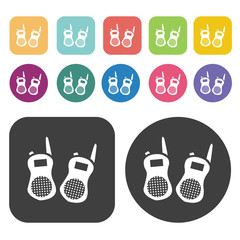 Walkie talkie icons set.  Illustration eps10