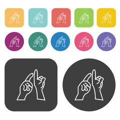 Communication icons set.  Illustration eps10