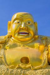 Smiling Golden Buddha Statue.