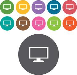 TV Icons Set. Illustration eps10