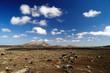 canvas print picture - Vulkanpanorama Lanzarote