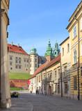 Kanonicza Street & Wawel Castle, Krakow in Poland