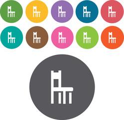 Chair Icons Set. Illustration eps10