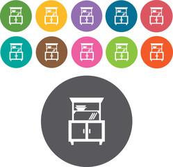 Furniture Icons Set. Illustration eps10