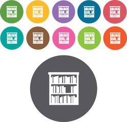 Bookshelf, Cabinets Icons Set. Illustration eps10