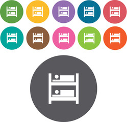 Bed Icons Set. Illustration eps10