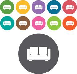 Modern luxury sofas Icons Set. Illustration eps10