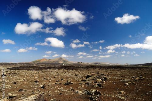 canvas print picture Vulkanpanorama Lanzarote