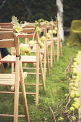 Apples in the wedding decorations