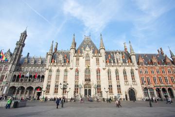 Center Market of Bruges , Belgium