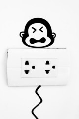 Plug and monkey picture.