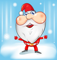santa claus cartoon with background