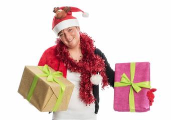 Nikolausfrau mit Geschenken