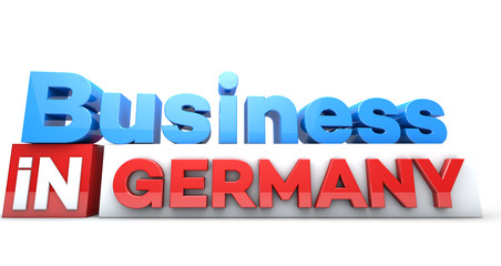 Business in countries in 3D on white