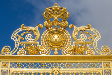 Beautiful gate of Versailles palace