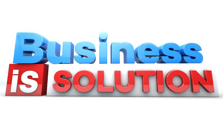 3D words Business is solution