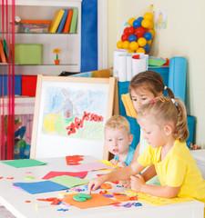 Pre-school children in the classroom