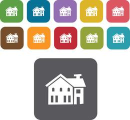 House Building Icons Set. Illustration eps10