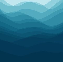 background blue waves like the sea
