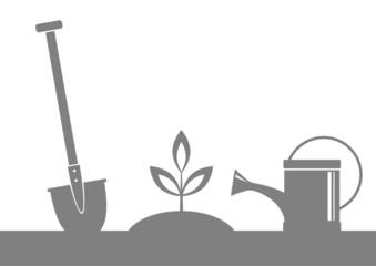 Grey garden icon