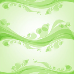 green pattern on a light green background
