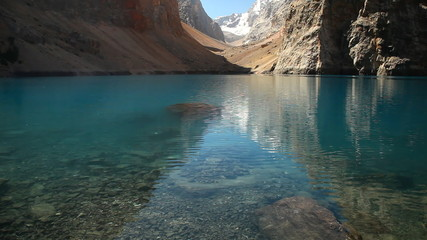 Beautiful lake in the Fann mountains, Tajikistan