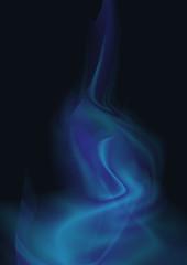 Rauch Blau Flamme