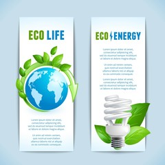 Ecology vertical banners