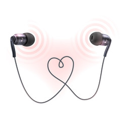 Headphones earplugs poster