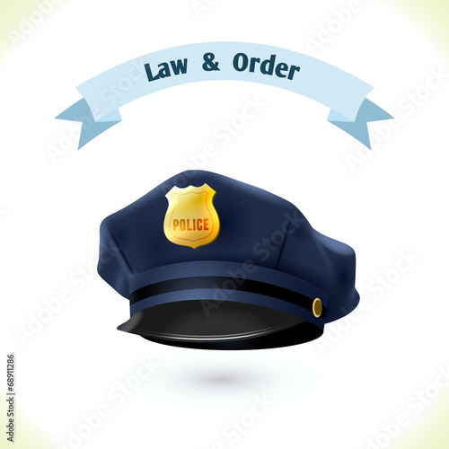 Law icon police hat - 68911286