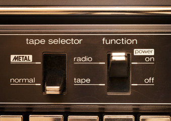 Vintage audio, radio cassette deck