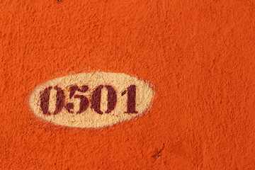 Orange background with numbers