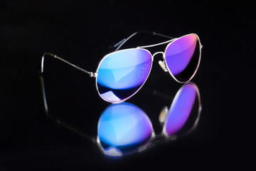 colored sunglasses.