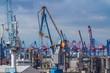 canvas print picture - Hamburger Hafen