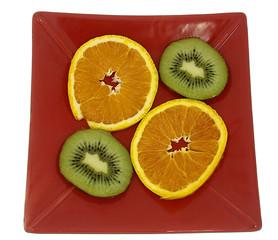 Orange und Kiwi