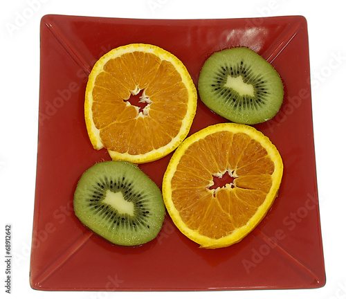 canvas print picture Orange und Kiwi