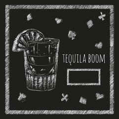 cocktail tequila boom blackboard menyu.kafe. bar. restaurant