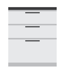 kitchen drawers vector illustration