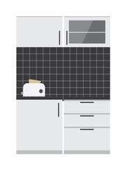 kitchen cabinet vector illustration