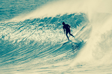 Surfing Surfer Riding Wave