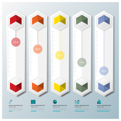 Hexagon Geometric Shape Business Infographic Design Template