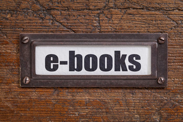 e-books - file cabinet label