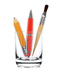 Stationery tools in glass